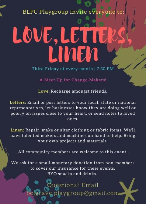 Love Letters Linen Info Poster